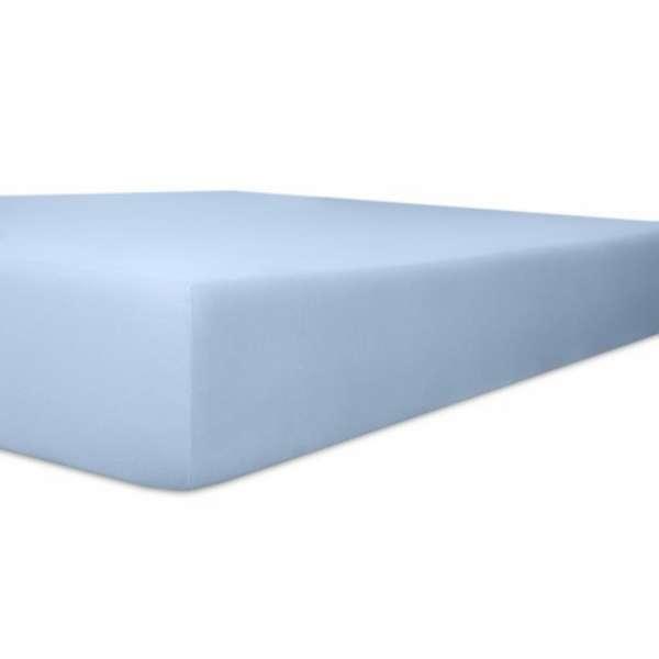 Kneer Vario Stretch Spannbetttuch Qualität 22 für Topper one hellblau 220x220 cm