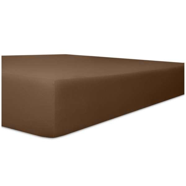 Kneer Fein-Jersey Spannbetttuch für Matratzen bis 22 cm Höhe Qualität 50 Farbe mocca