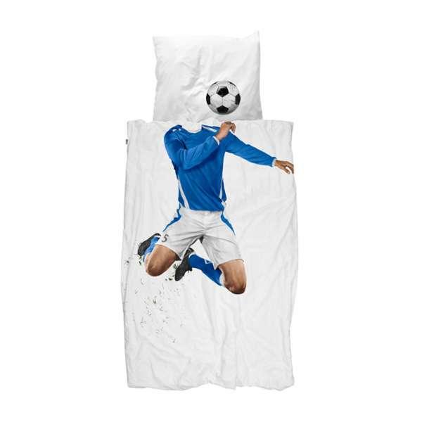 Snurk Bettwäsche Soccer Größe 135x200/80x80 cm blue