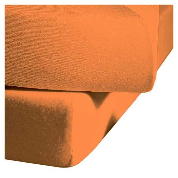 Fleuresse Mako-Satin-Spannlaken colours Farbe orange 2044
