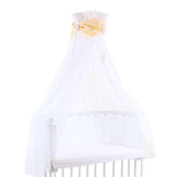 babybay Himmel Cotton mit Schleife für alle Modelle, gelb/weiß