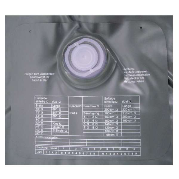 ABBCO Kuss Wassermatratze - Wasserkern Mesamoll II Softside für Duales WB 200x210 cm