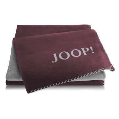 JOOP Wohndecke Uni-Doubleface Größe 150x200 cm Bordaux-Graphit 000222150000