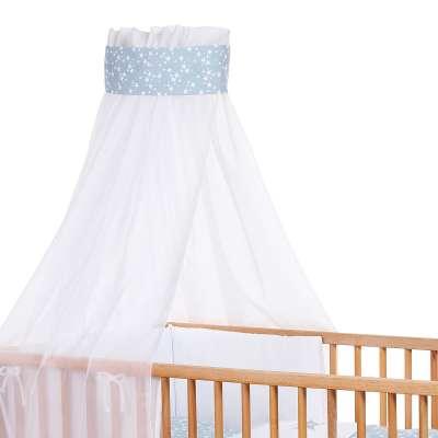 Tobi Babybay babybay Kinderbetthimmel Piqué mit Band, Applikation Stern azurblau Sterne weiß