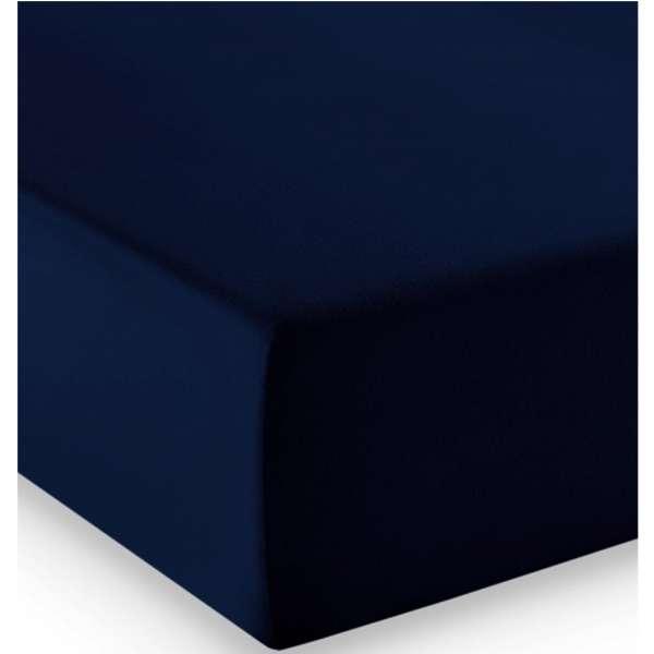 Fleuresse Mako-Jersey-Spannlaken comfort Farbe nachtblau 6061