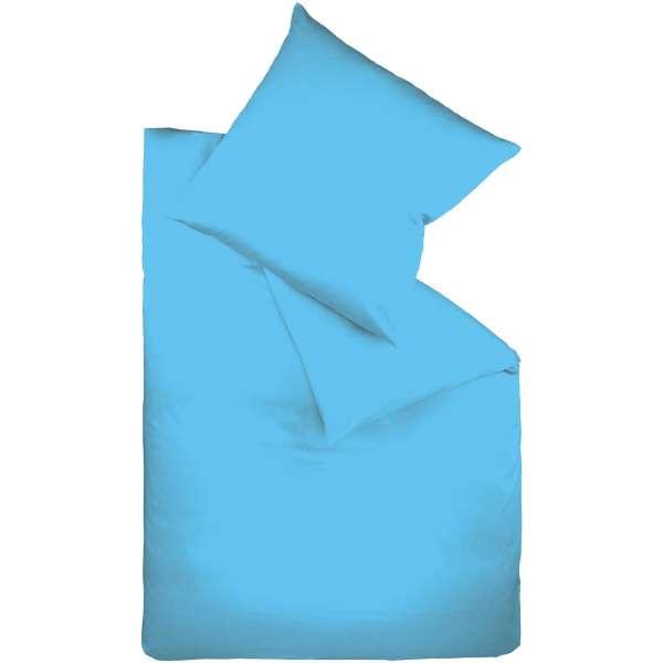 Fleuresse Mako-Satin-Bettwäsche colours meeresblau 6072 Größe 155x220 cm