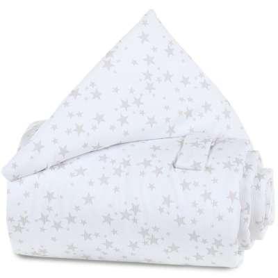 Tobi Babybay babybay Gitterschutz Piqué für Verschlussgitter, weiß Sterne perlgrau