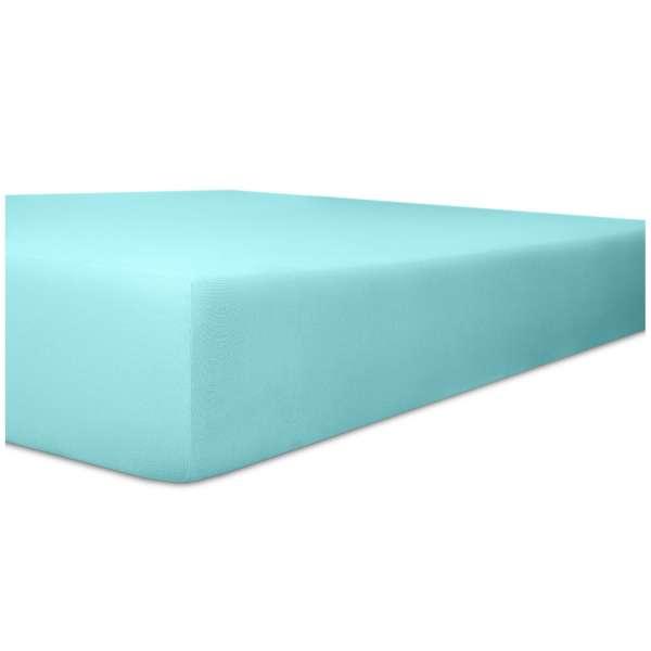 Kneer Vario-Stretch Spannbetttuch one für Topper 4-12 cm Höhe Qualität 22 Farbe türkis