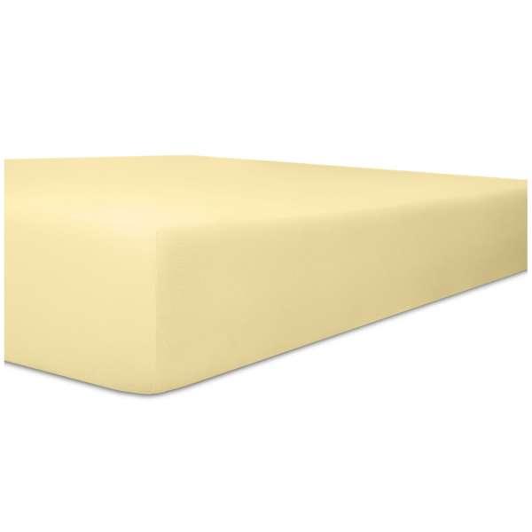 Kneer Edel-Zwirn-Jersey Spannbetttuch für Matratzen bis 22 cm Höhe Qualität 20 Farbe leinen