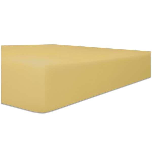 Kneer Edel-Zwirn-Jersey Spannbetttuch für Matratzen bis 22 cm Höhe Qualität 20 Farbe curry