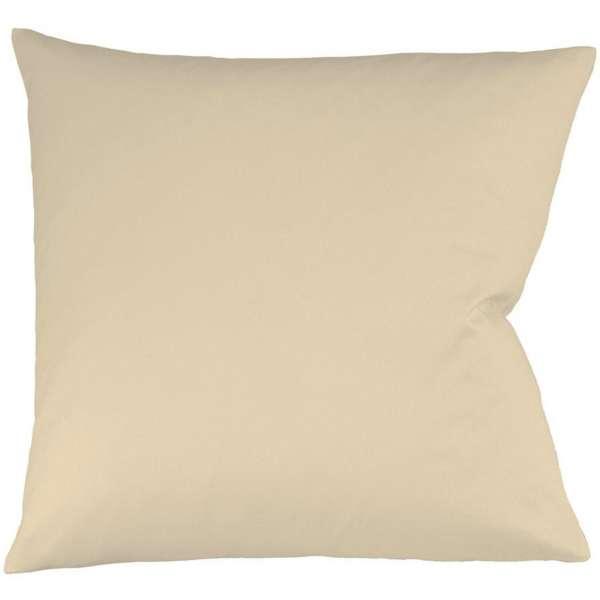 Fleuresse Interlock-Jersey-Kissenbezug uni colours, Farbe beige 2043