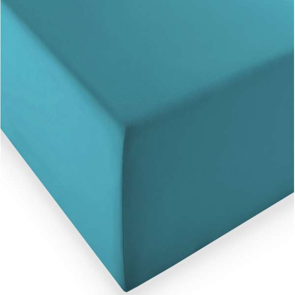 Fleuresse Boxspring- und Wasserbetten Jersey-Spannlaken comfort XL Farbe 6066 petrol