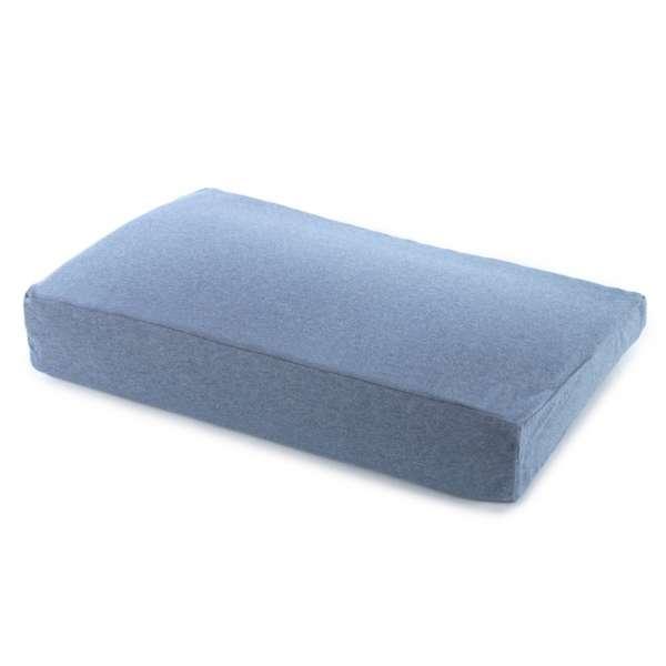 Theraline Pearlfusion Schlaf- und Nackenstützkissen 50x32x12 cm incl. Bezug melange-blau