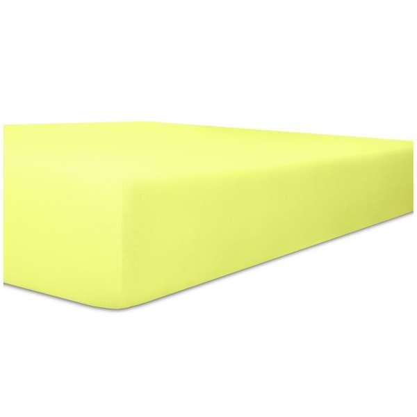 Kneer Edel-Zwirn-Jersey Spannbetttuch für Matratzen bis 22 cm Höhe Qualität 20 Farbe lilie