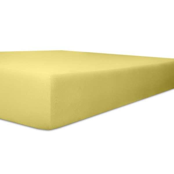 Kneer Easy Stretch Spannbetttuch Qualität 25,gelb, 90-100x190-220 cm