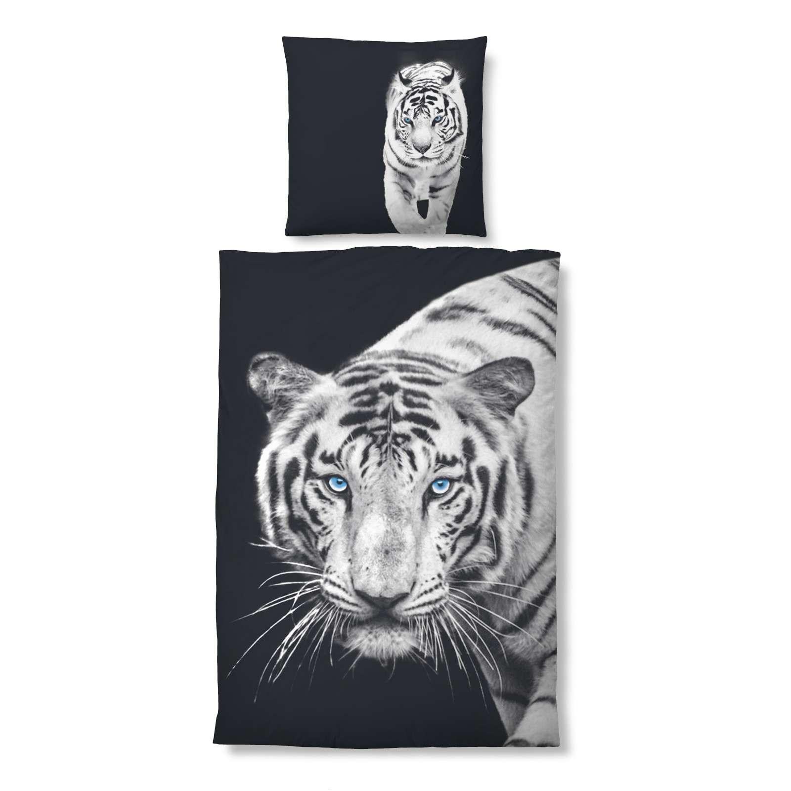Schön Microsatin Bettwäsche Sammlung Von Biberna Micro Satin Bettwäsche Tiger Größe 135x200/80x80