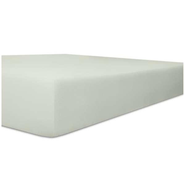 Kneer Vario-Stretch Spannbetttuch one für Topper 4-12 cm Höhe Qualität 22 Farbe hellgrau