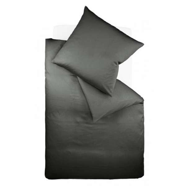 Fleuresse Interlock-Jersey-Bettwäsche colours 135x200 cm anthrazit