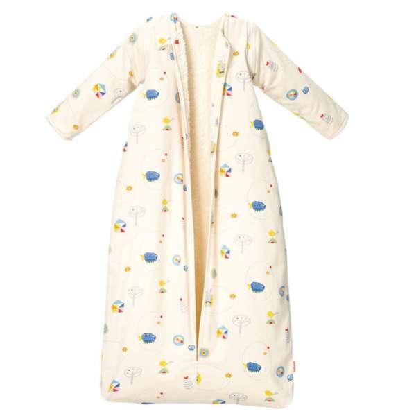 Cotonea Schlafsack mit Plüschfutter/abnehmbare Ärmel Meister Hase, Größe 70 cm