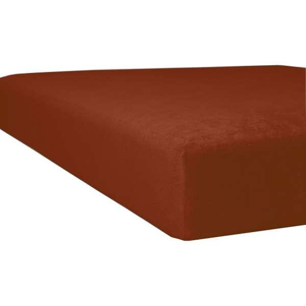 Kneer Flausch-Biber Spannbetttuch für Matratzen bis 22 cm Höhe Qualität 80 Farbe zimt