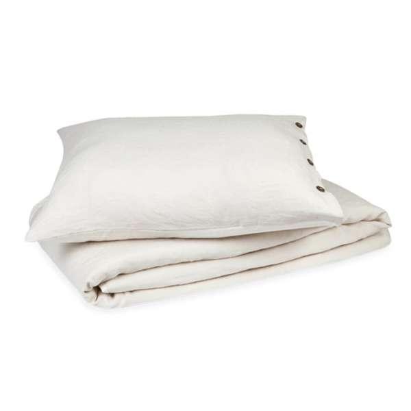 Kayori 100 % Leinen Bettwäsche Nikko Größe 155x220 cm Farbe natur