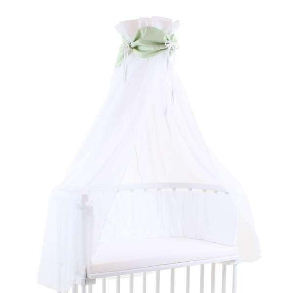 babybay Himmel Cotton mit Schleife für alle Modelle, grün/weiß