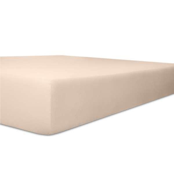 Kneer Vario Stretch Spannbetttuch Qualität 22 für Topper one zartrose 220x220 cm