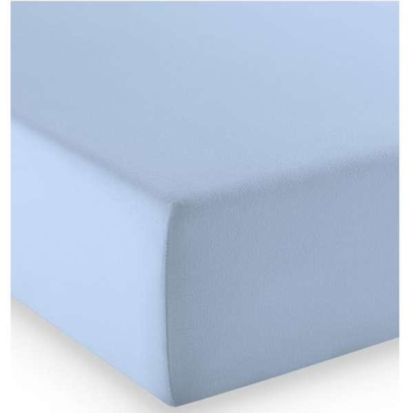 Fleuresse Mako-Jersey-Spannlaken comfort Farbe bleu 6056