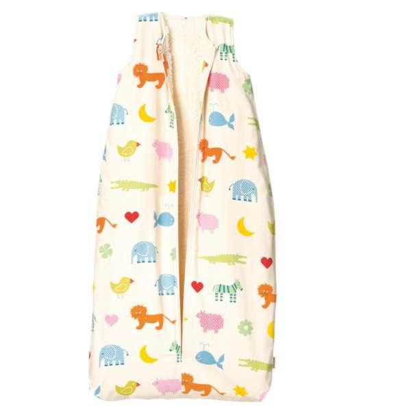 Cotonea Bio-Baumwolle Baby- und Kinder Flanell-Schlafsack Größe 90 Arche Noah