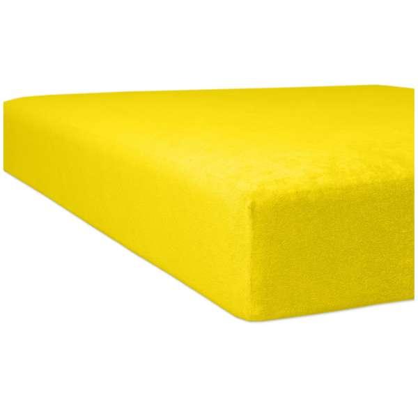 Kneer Flausch-Biber Spannbetttuch für Matratzen bis 22 cm Höhe Qualität 80 Farbe mais