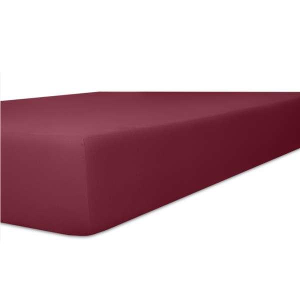 Kneer Vario Stretch Spannbetttuch Qualität 22 für Topper one burgund 220x220 cm