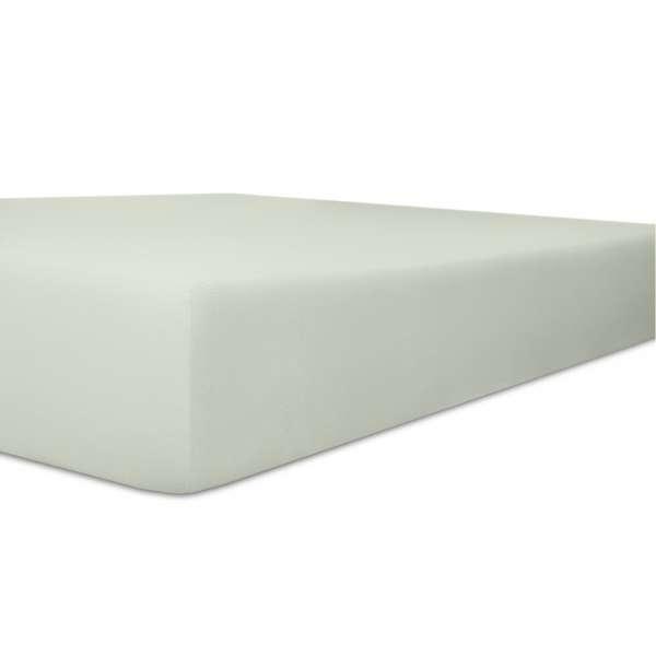 Kneer Vario Stretch Spannbetttuch Qualität 22 für Topper one hellgrau 220x220 cm