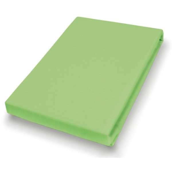 Hahn Haustextilien Jersey-Spannlaken Basic Größe 90-100x200 cm Farbe kiwi