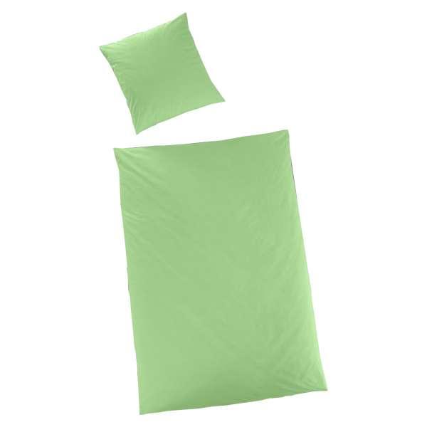 Hahn Haustextilien Luxus-Satin Bettwäsche uni Farbe limette
