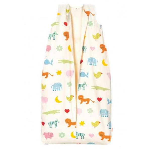 Cotonea Bio-Baumwolle Kinderschlafsack mit Teddyplüschfutter Design Arche Noah