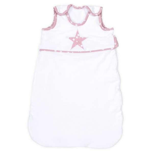 babybay Schlafsack Organic Cotton, weiß Applikation Stern beere Sterne weiß
