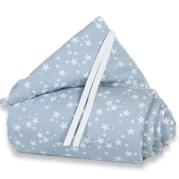 babybay Nestchen Piqué für Original, azurblau Sterne weiß