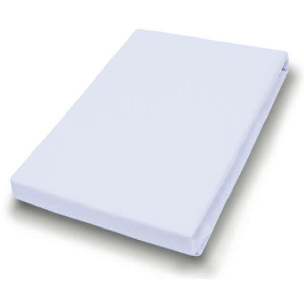 Hahn Haustextilien Jersey-Spannlaken Basic Größe 140-160x200 cm Farbe hellgrau