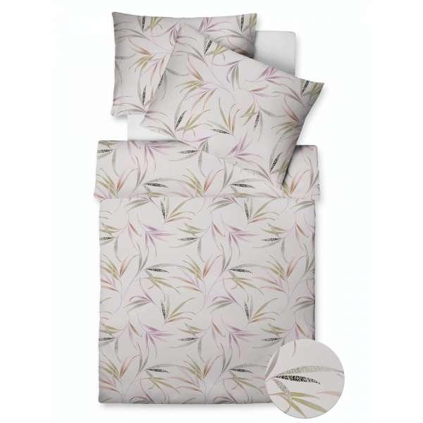 Fleuresse Vegane Mako Satin Bettwäsche Farbe Holunder Größe 135x200+80x80 cm Kopfkissen