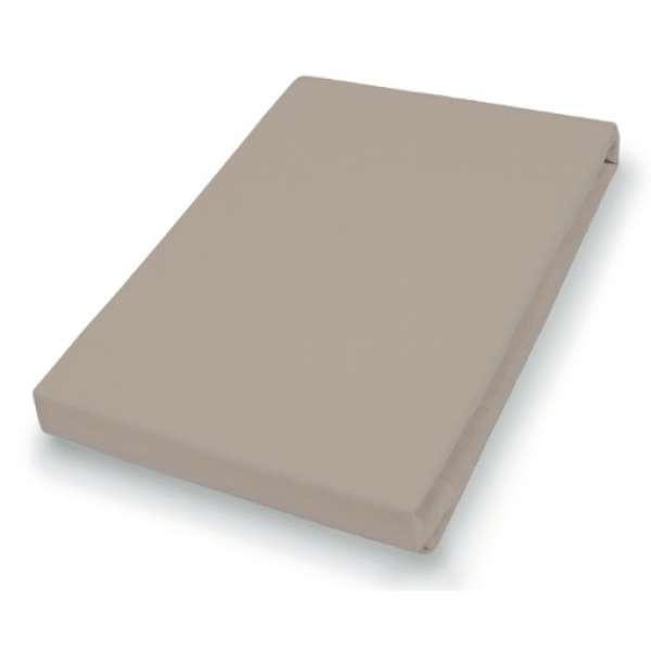 Hahn Haustextilien Jersey-Laken für Matratzentopper, Größe140-160x200-220 cm, kiesel