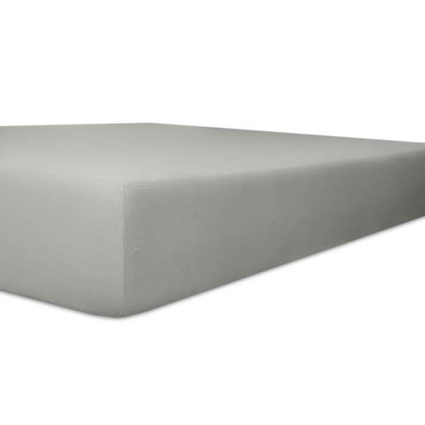 Kneer Easy Stretch Spannbetttuch Q 25 Farbe schiefer Größe 180-200x200-220 cm
