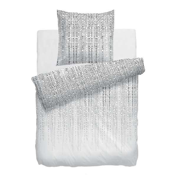 Hnl Baumwoll Bettwäsche Rolf 135x200 Cm Weiß Grau Bettenwelt24de