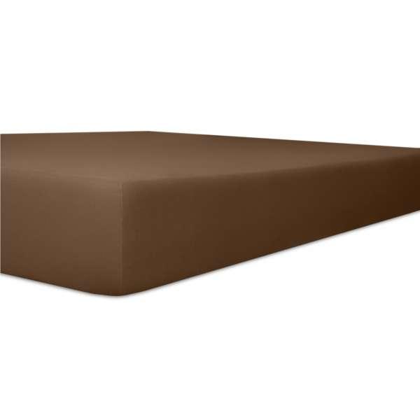 Kneer Vario Stretch Spannbetttuch Qualität 22 für Topper one mocca 220x220 cm