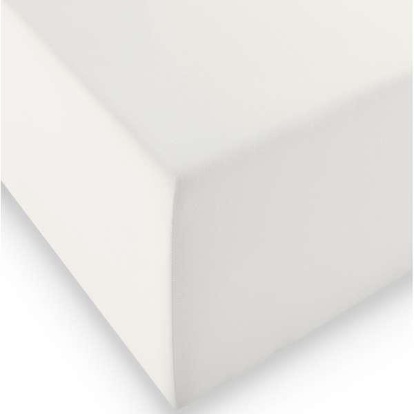 Fleuresse Jersey-Spannlaken comfort XL Farbe naturweiß 1109, Größe 90x200 cm