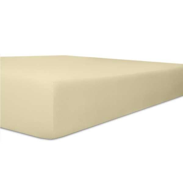 Kneer Vario Stretch Spannbetttuch Qualität 22 für Topper one ecru 220x220 cm