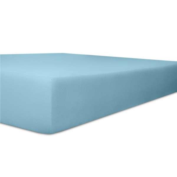 Kneer Vario Stretch Spannbetttuch Qualität 22 für Topper one blau 200x200 cm