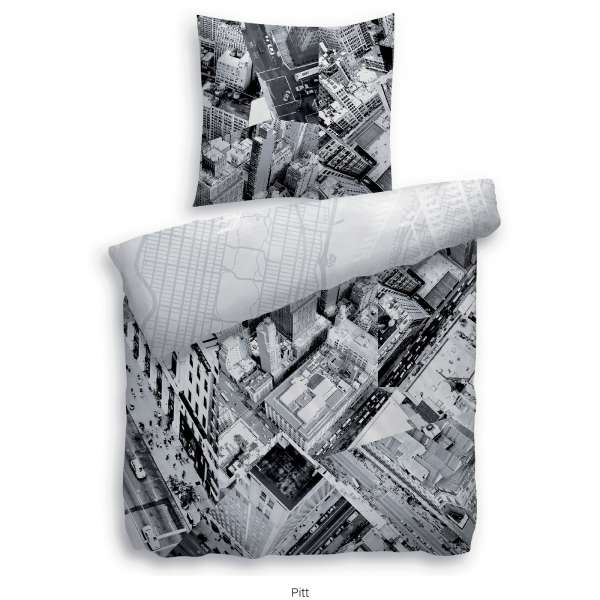 Heckett Lane Pure Cotton Bettwäsche Pitt 155x220 Cm Grau
