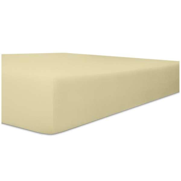 Kneer Vario-Stretch Spannbetttuch one für Topper 4-12 cm Höhe Qualität 22 Farbe natur