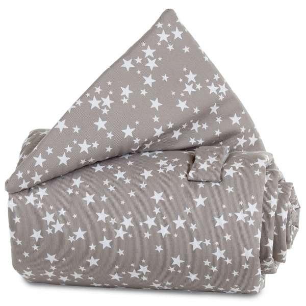 babybay Gitterschutz für Verschlussgitter alle Modelle, taupe Sterne weiß