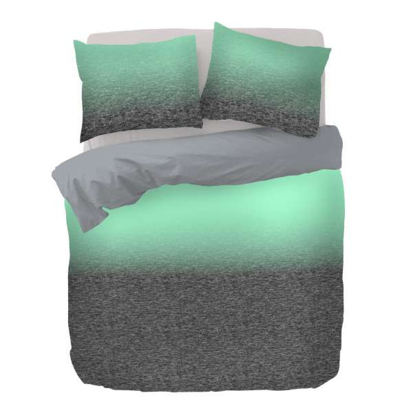 Kayori Baumwoll Satin Bettwäsche Shima Größe 135x200 cm Farbe grau